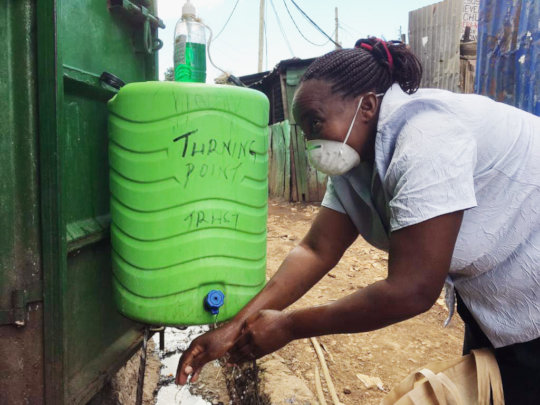 Handwashing point provided for the community