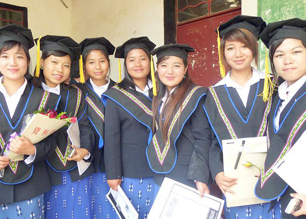 Educate young villagers in Burma