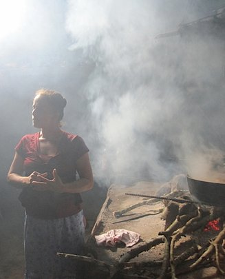 A smoke filled kitchen in Nicaragua