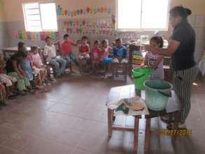 Children learn healthy hygiene habits