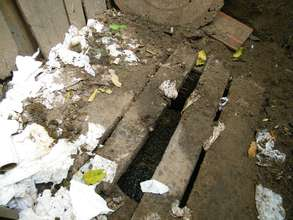 The old pit latrine overflowed frequently