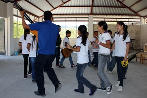 School as it should be; music, fun and games