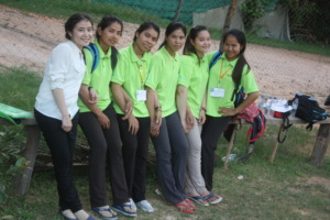 Pharady with female volunteers in cohort 21