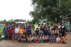 With the children In Kompong Chen Choueng commune