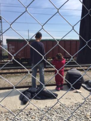 Children at the transit center