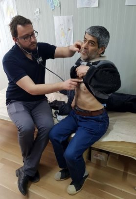Medical services for refugees at the Centers