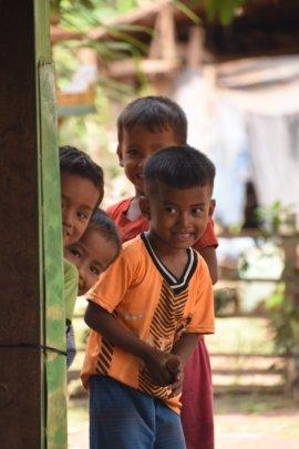 Children from the communities