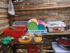 Food preparation for tourist by the Gibbon Project