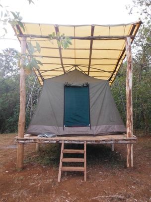 Camp tent for tourists