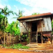 Rural Cambodian house