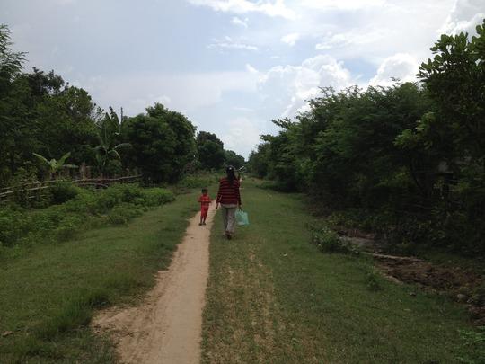 Village road in Koh Preah