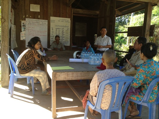 Meeting to identify problems of the bio-digesters