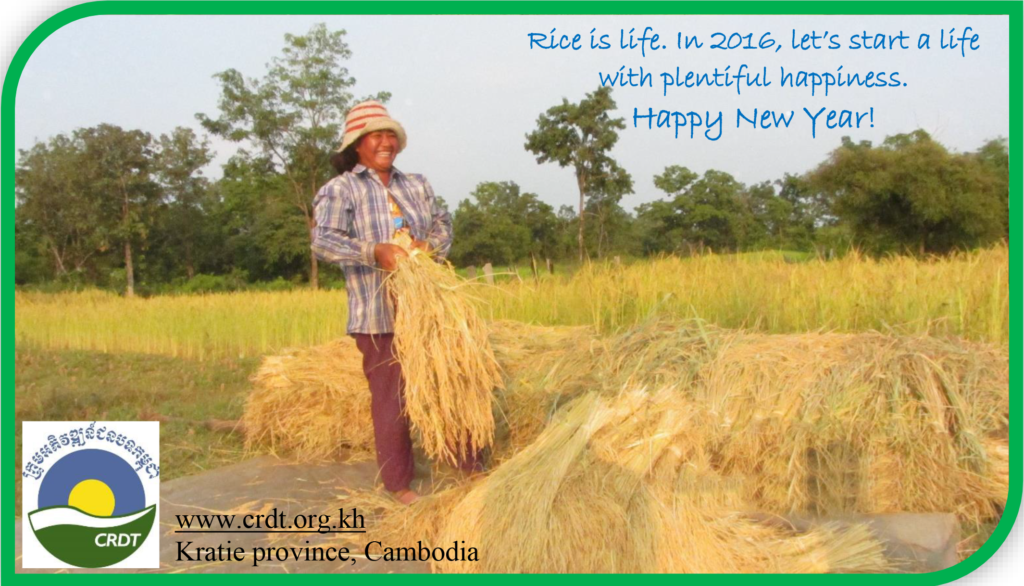 New Year wishing card from CRDT