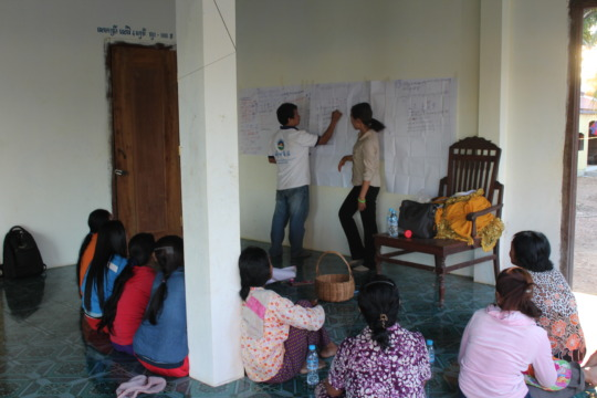 Awareness worshop with people in Koh Preah