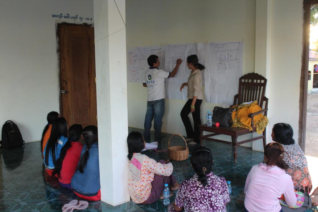 Awareness worshop with people in Koh Preah