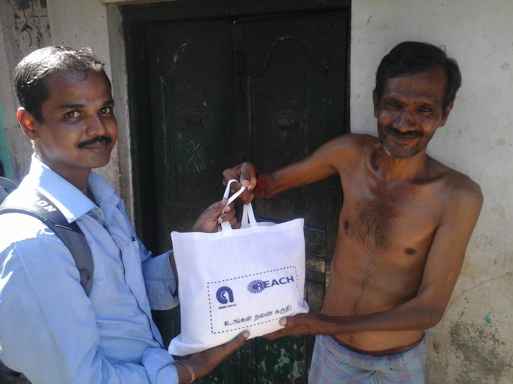 Nutritional support to a TB patient