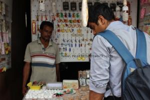 Syed at his souvenir shop