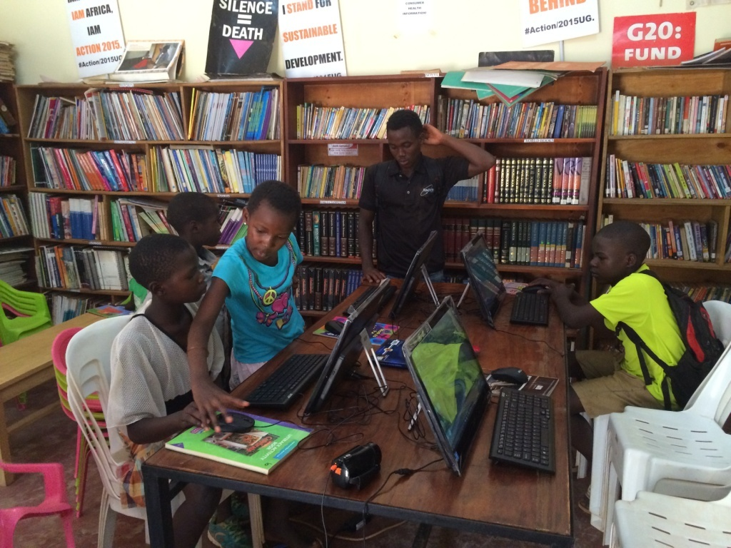 Community children have access to computers
