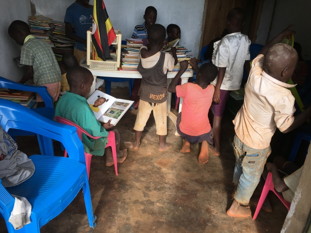 The first Community library in Buvuma  Island