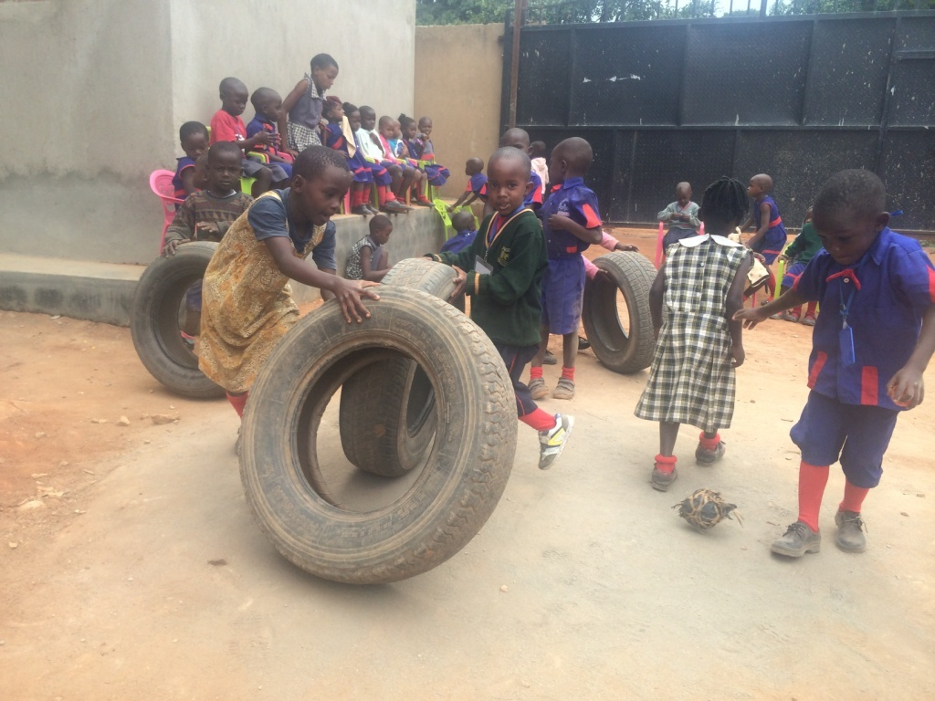 Play time for children at the center