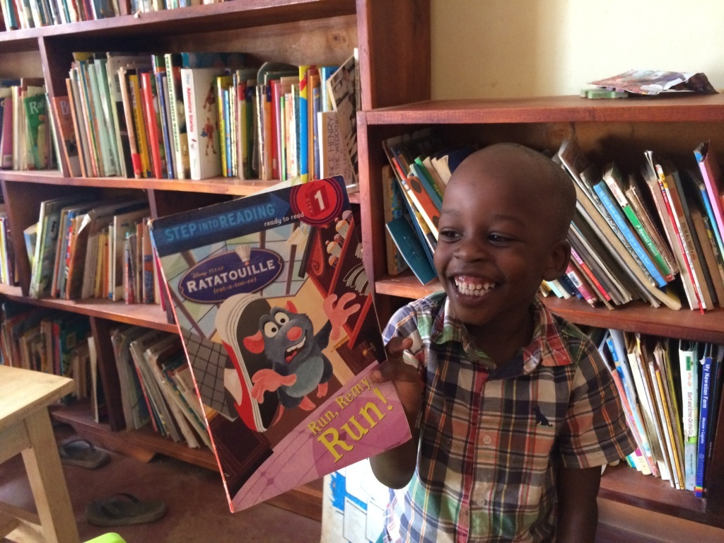 a Community child enjoy reading a particular book