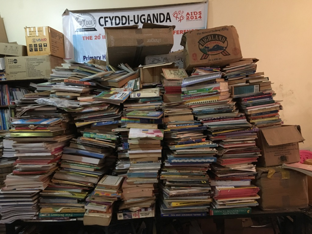 The center is in need for more book shelves