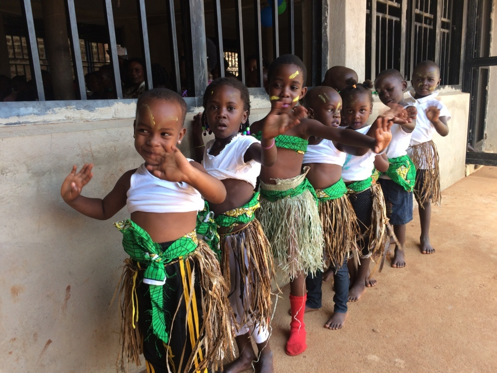 The girls prepare for traditional dance