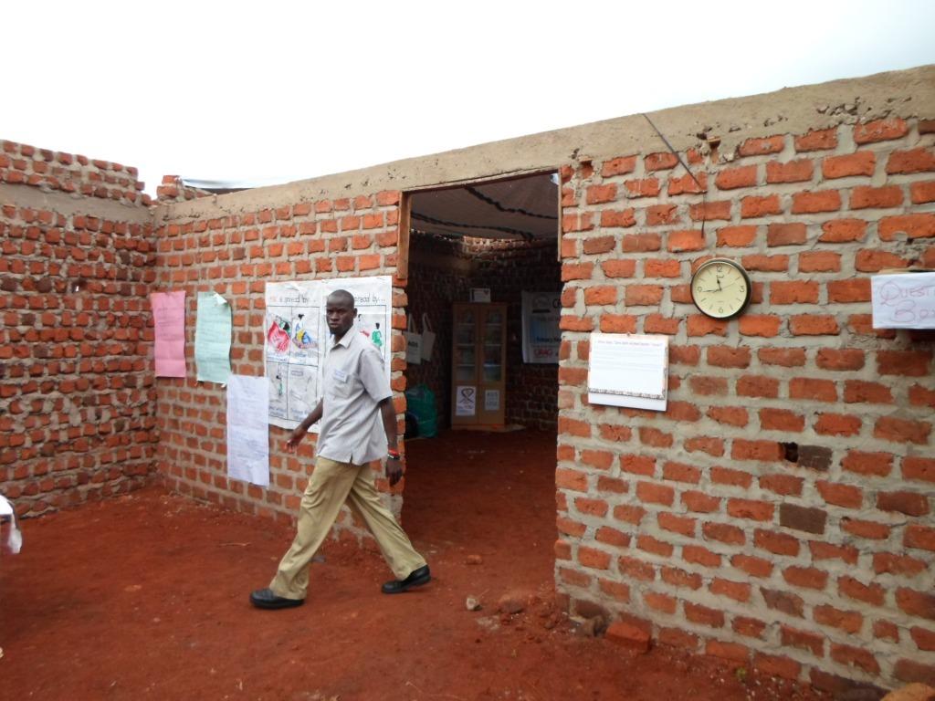 A teacher facilitating the youth camp enjoys space