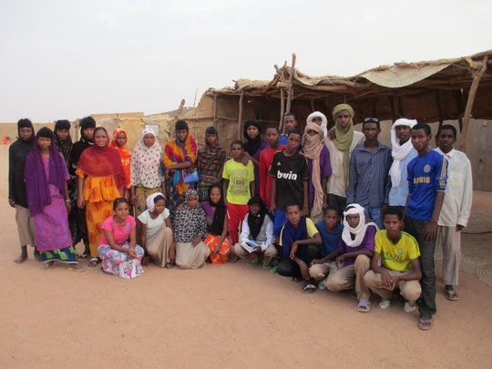 RAIN Staff Halima Aboubacar with students.