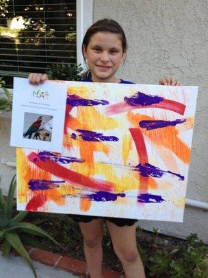 Reygan  the Painting Raffle Winner