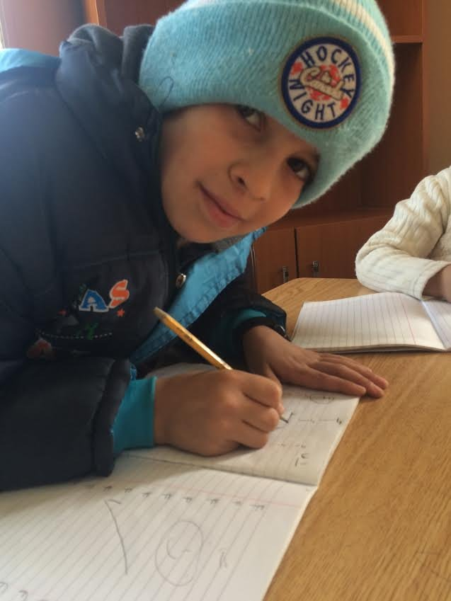 One of the students at an informal school