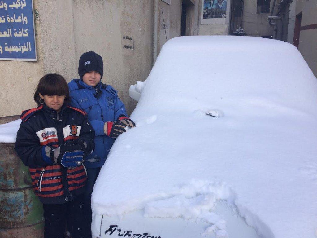 Snowy winter in Lebanon