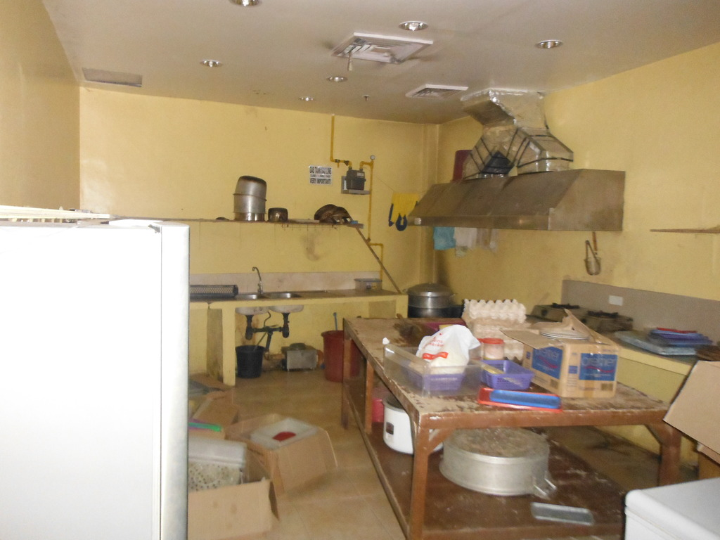Humm what a messy kitchen isn