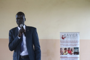 Giving a motivation talk to other students.