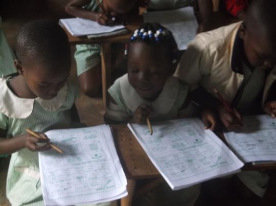 children sharing learning ideas