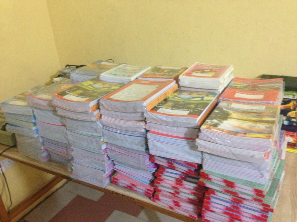 Notes and exercise books to be shared
