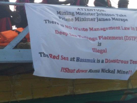 Mayau Lale protests against Ramu Nickel Mine DSTP