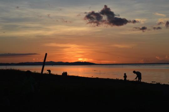 Sunset at Chambri Lakes (Sepik River)