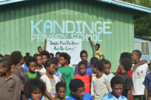 School Children showing support to BAN Freida Mine