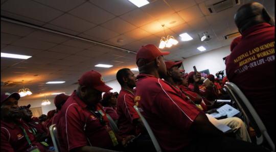Landowners attending the land summit in Madang