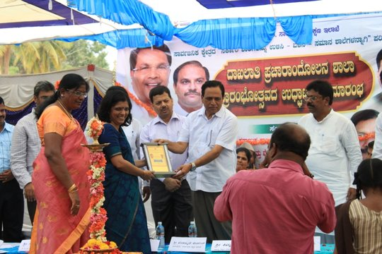 Education Minister felicitates DSF director