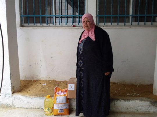 One of the beneficiaries of the food distribution