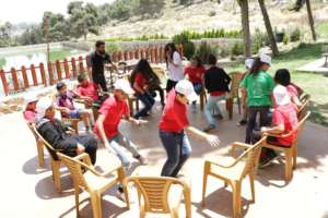 Youth gets moving during our team games.