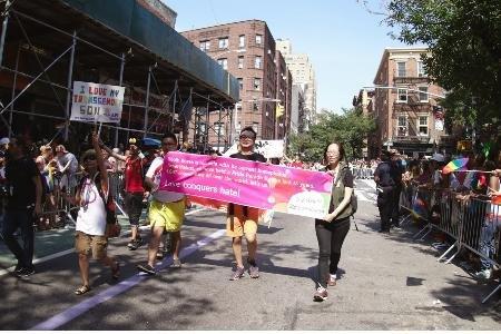 At the NYC Pride, June 29