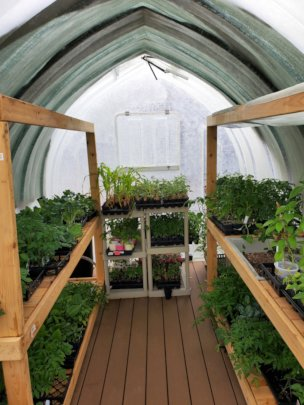 New Greenhouse Loaded for the Season!