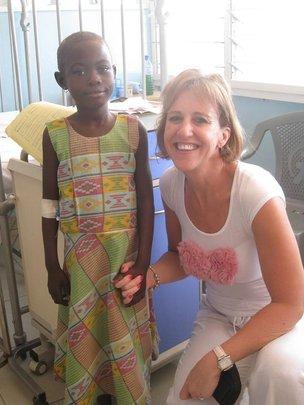 Gloria, a leukemia patient & Nurse Margarita