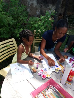 Painting session during 10 Days of Art series