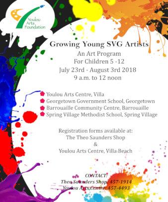 Poster promoting the Art program