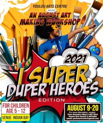 Poster Advertising the 2021 Visual Arts Program