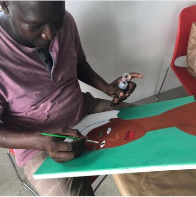 Art making at the adult class
